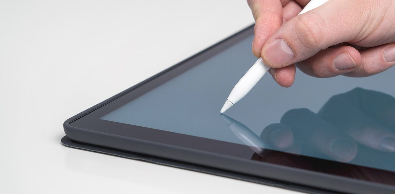 Apple Pencil representing iPad accessories for schools